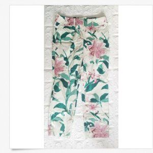 Ann Taylor Factory Cropped Pants Floral Size 2